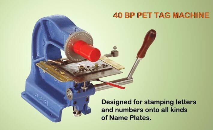 pet tag machine