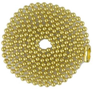 Brass 04.5 inch to 40 inch Ball Chain