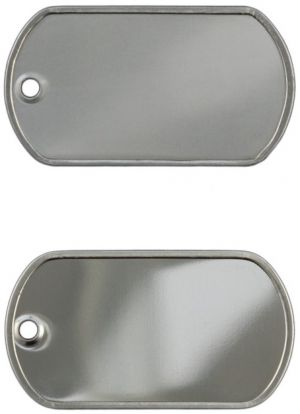 Economy Dog Tag, China, dull or shiny
