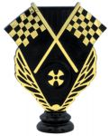 "4 3/4"" Black/Gold Racing Figure"