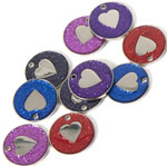 Glitter Heart Pet Tags 25 mm