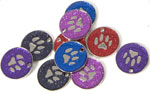 Glitter Paw Pet Tags 25 mm